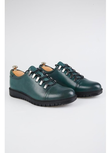 Tripy Hakiki Deri Sneakers Yeşil